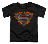 Toddler: Superman - Iron Fire Shield Shirts