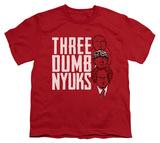 Youth: The Three Stooges - Three Dumb Nyuks T-shirts
