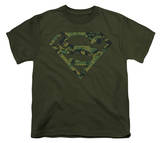 Youth: Superman - Marine Camo Shield T-shirts