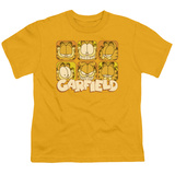 Youth: Garfield - Many Faces T-shirts