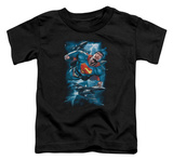 Toddler: Superman - Stormy Flight T-shirts