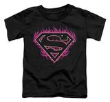 Toddler: Superman - Fuchsia Flames T-Shirt