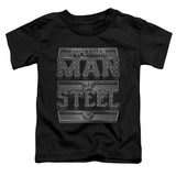 Toddler: Superman - Steel Text T-Shirt