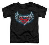 Toddler: Superman - Steel Wings Logo Shirts