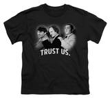 Youth: The Three Stooges - Trust Us T-shirts