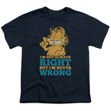 Youth: Garfield - Never Wrong T-shirts