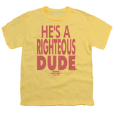 Youth: Ferris Bueller's Day Off - Righteous Dude T-Shirt