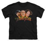 Youth: The Three Stooges - Three Head Logo T-shirts