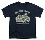 Youth: The Three Stooges - Without Cents T-Shirt