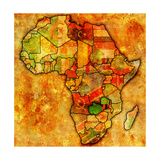 Zambia on Actual Map of Africa Poster af michal812