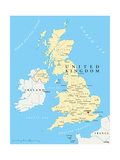 United Kingdom Political Map Art by Peter Hermes Furian