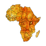 Uganda on Actual Map of Africa Posters af michal812