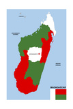 Madagascar Map Posters by  tony4urban