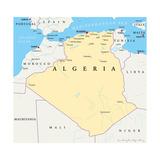 Algeria Political Map Plakat af Peter Hermes Furian