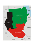 Sudan Map Prints by  tony4urban