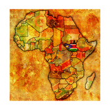 South Sudan on Actual Map of Africa Posters by  michal812
