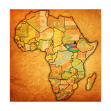 South Sudan on Actual Map of Africa Posters af michal812