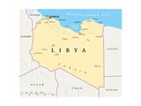 Libya Political Map Posters af Peter Hermes Furian