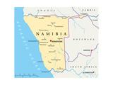 Namibia Political Map Plakater af Peter Hermes Furian