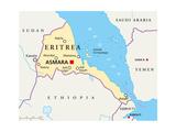 Eritrea Political Map Plakater af Peter Hermes Furian