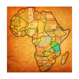 Tanzania on Actual Map of Africa Poster by  michal812