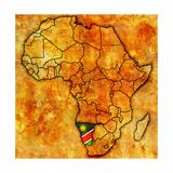 Namibia on Actual Map of Africa Giclee-tryk i høj kvalitet af  michal812