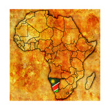 Namibia on Actual Map of Africa Lámina giclée premium por  michal812