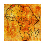 Morocco on Actual Map of Africa Art by  michal812