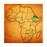 Ethiopia on Actual Map of Africa Posters af michal812