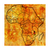 Malawi on Actual Map of Africa Posters af  michal812