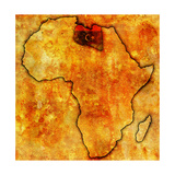 Libya on Actual Map of Africa Prints by  michal812