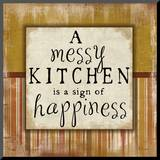 Messy Kitchen Mounted Print by Jennifer Pugh