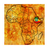 Ethiopia on Actual Map of Africa Plakater af michal812