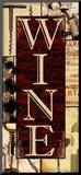 Wine Essentials Mounted Print by Lisa Wolk