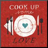 Cook Up Love Mounted Print by Michael Mullan