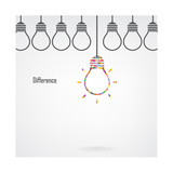 Creative Light Bulb Idea and Difference Concept Posters by Big ideas