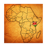 Kenya on Actual Map of Africa Posters af michal812