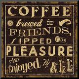 Coffee Quote II Mounted Print