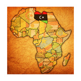 Libya on Actual Map of Africa Plakater af  michal812