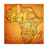Guinea on Actual Map of Africa Posters af michal812