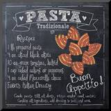 Pasta Recipe Mounted Print by Jo Moulton
