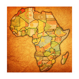 Morocco on Actual Map of Africa Posters af michal812