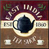 East India Tea Shop Mounted Print by Mid Gordon