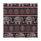 Ethnic Elephant Seamless Prints by  transiastock