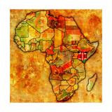 Kenya on Actual Map of Africa Prints by  michal812