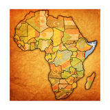 Somalia on Actual Map of Africa Posters af michal812