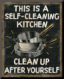Self Cleaning Kitchen Mounted Print by  Pela