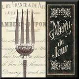 French Menu II Mounted Print