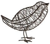 Large Bird On a Wire Sculpture Home Accessories
