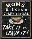Mom's Kitchen Mounted Print by  Pela